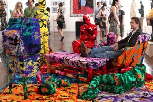 Agata Olek crochet art