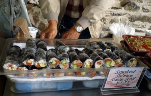 Salmon Rolls, Halifax market