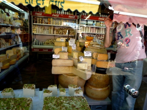 cheese in the market
