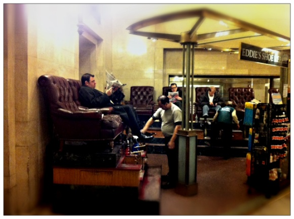 Shoe Shiners in Grand Central Terminal