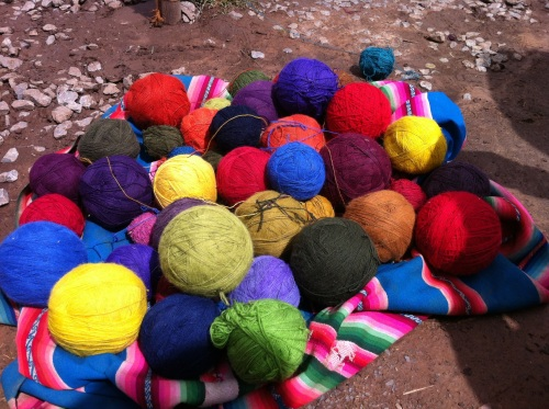 Colorful alpaca yarn