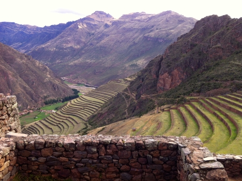 terraces of Pisac. One has to imagine, how did the Inca managed plants at this heights and in such a neat order