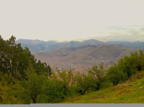 Cusco, as seen from Saqsayhuaman