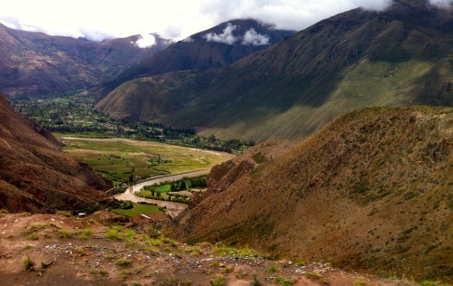 A river view in the Sacred Valley