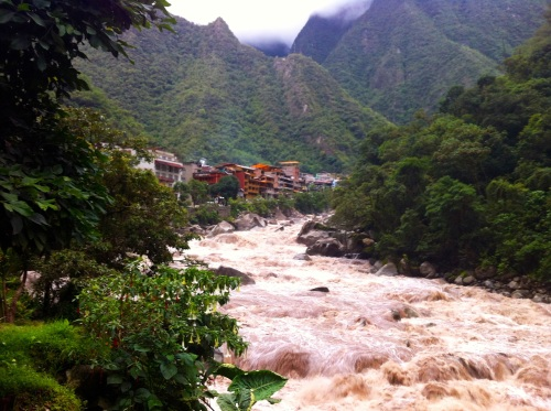 walking along the river, more Aguas Calientes views