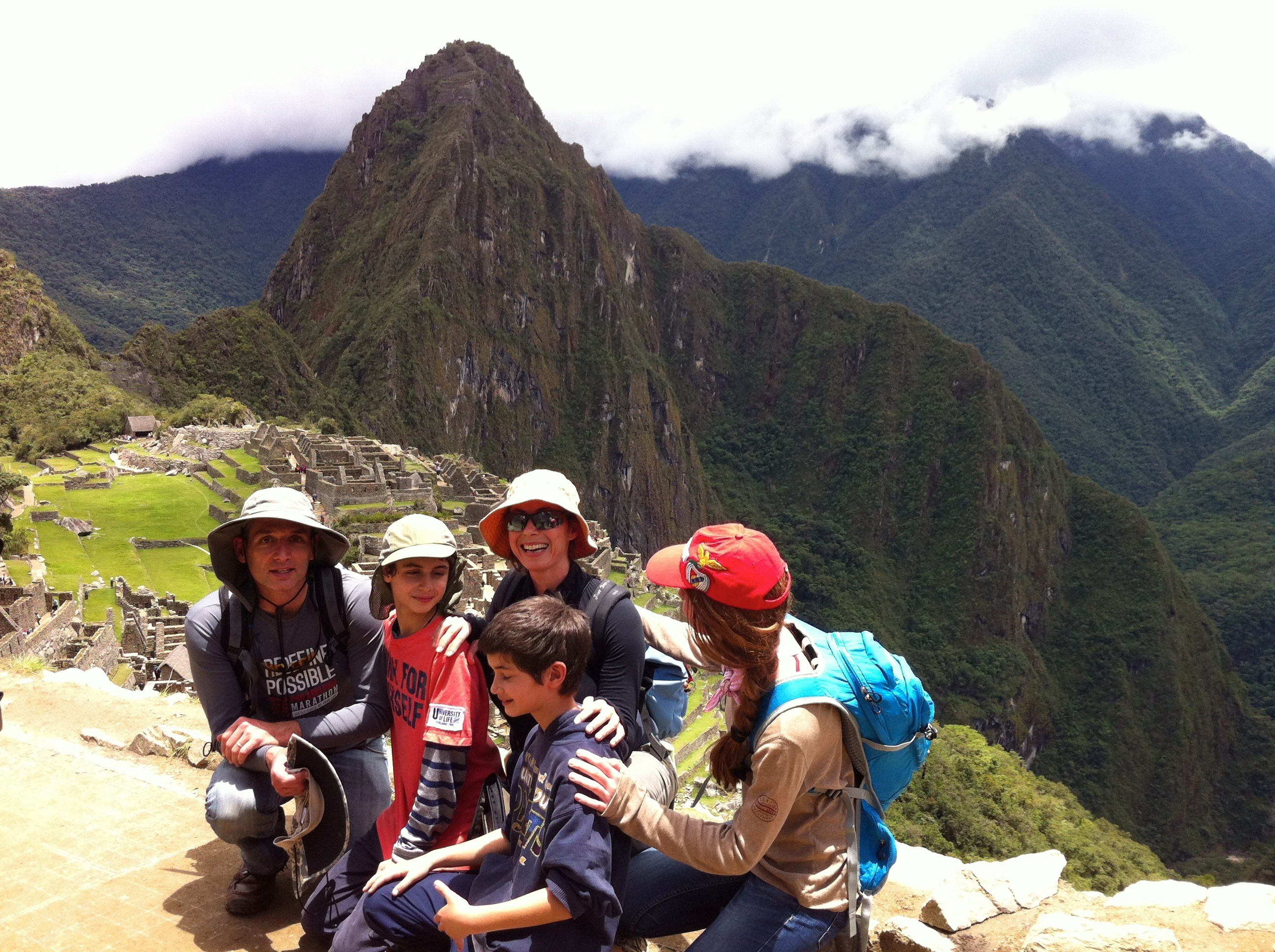 a must photo- unavoidable. Wayna Picchu in the background