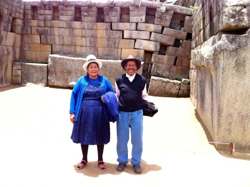Quechua Peruvians tour their ancestor's landmark