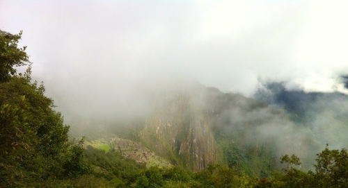 Can you spot the ruins of Machu Picchu ?