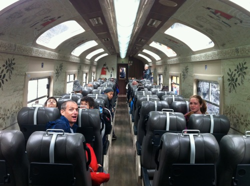 Train to Aguas Calientes. Smile