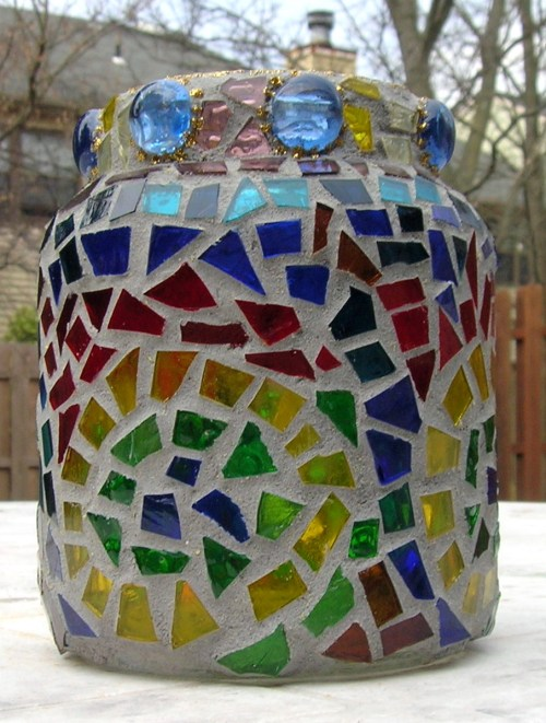 Coffee Jar covered with mosaic