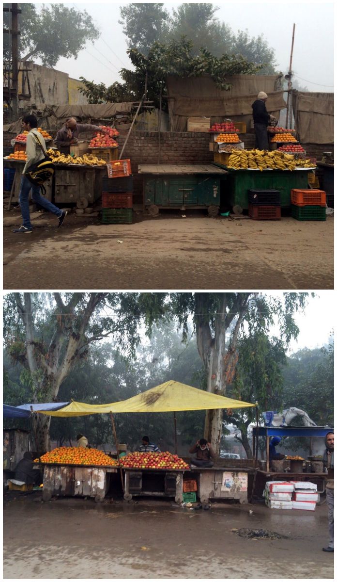 morning. Vendors open up their fruit stalls. Some catch a quick  rest before the hassle starts