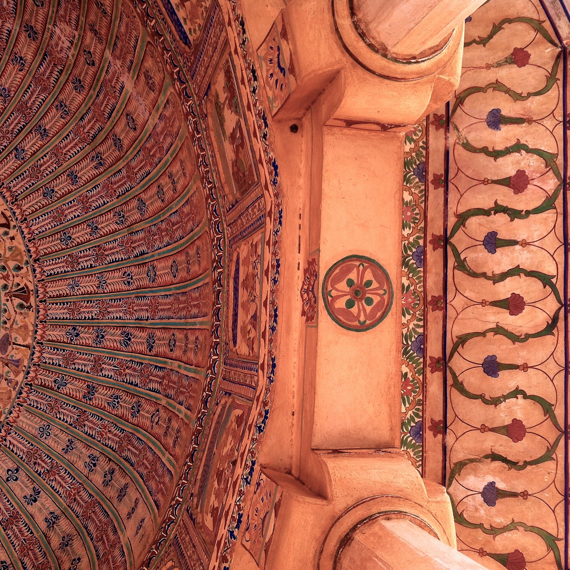 Even the ceiling is beautifully decorated
