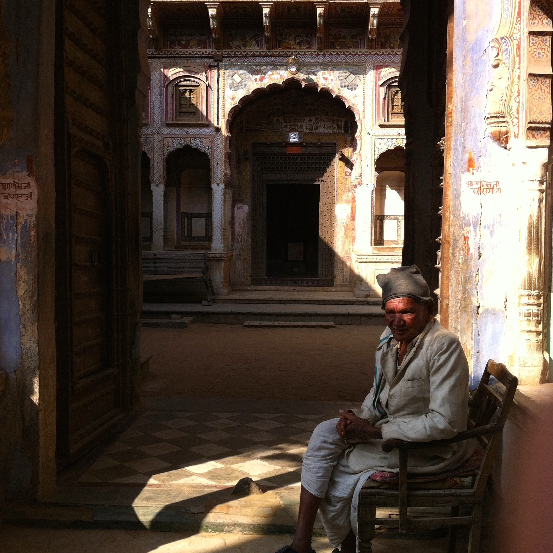 Gate keeper to one of the Havelis in Nawalgarh