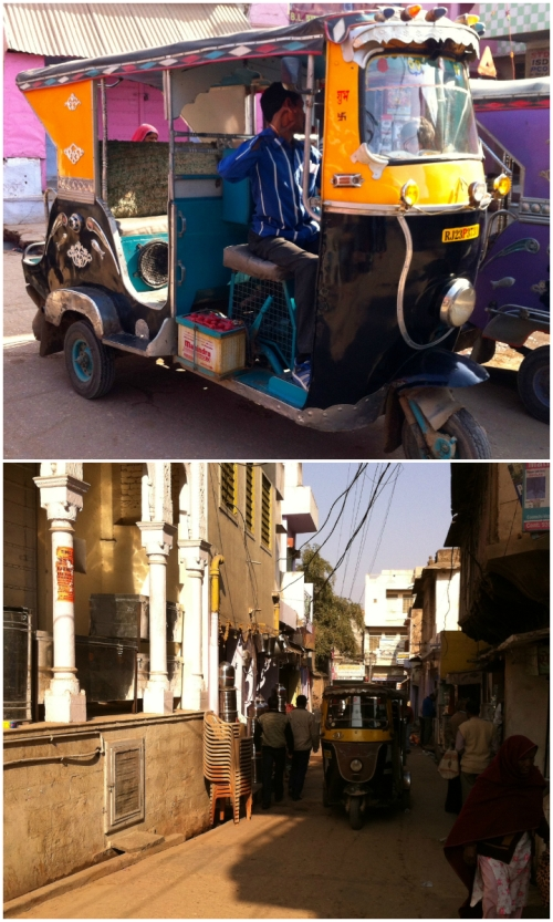 Tuk-tuks add colors of their own to the bustling collage