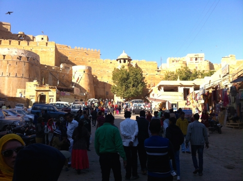 The view towards the main gate of the Golden City