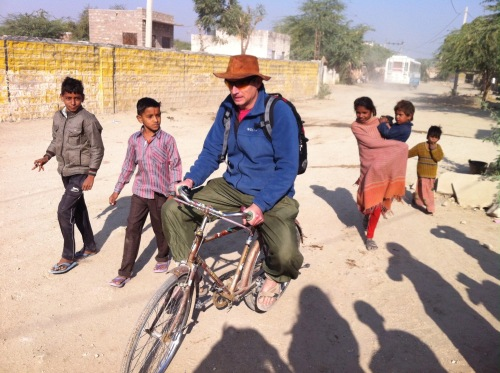 bike riding with the local kids