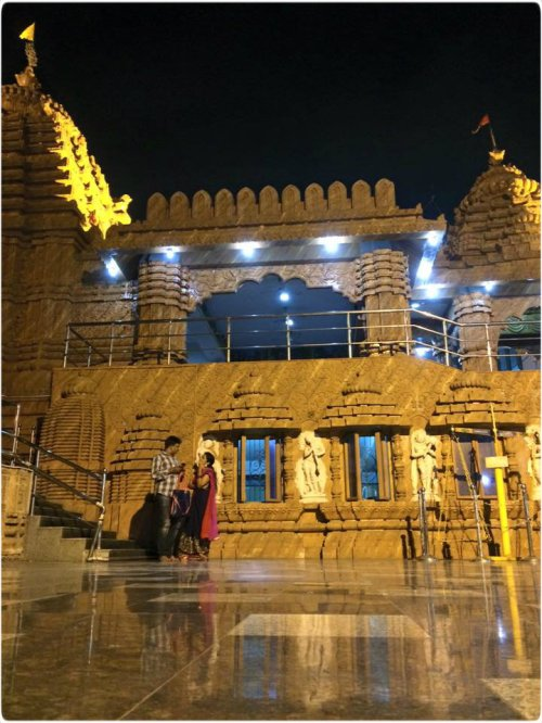 Jagannath Temple at night