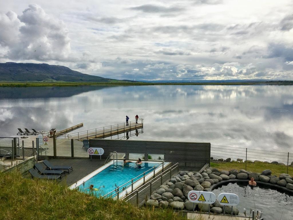 Sleek lakefront thermal pool, LaugarvatnFontana